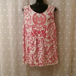 Lucky Brand sleeveless embroidered top